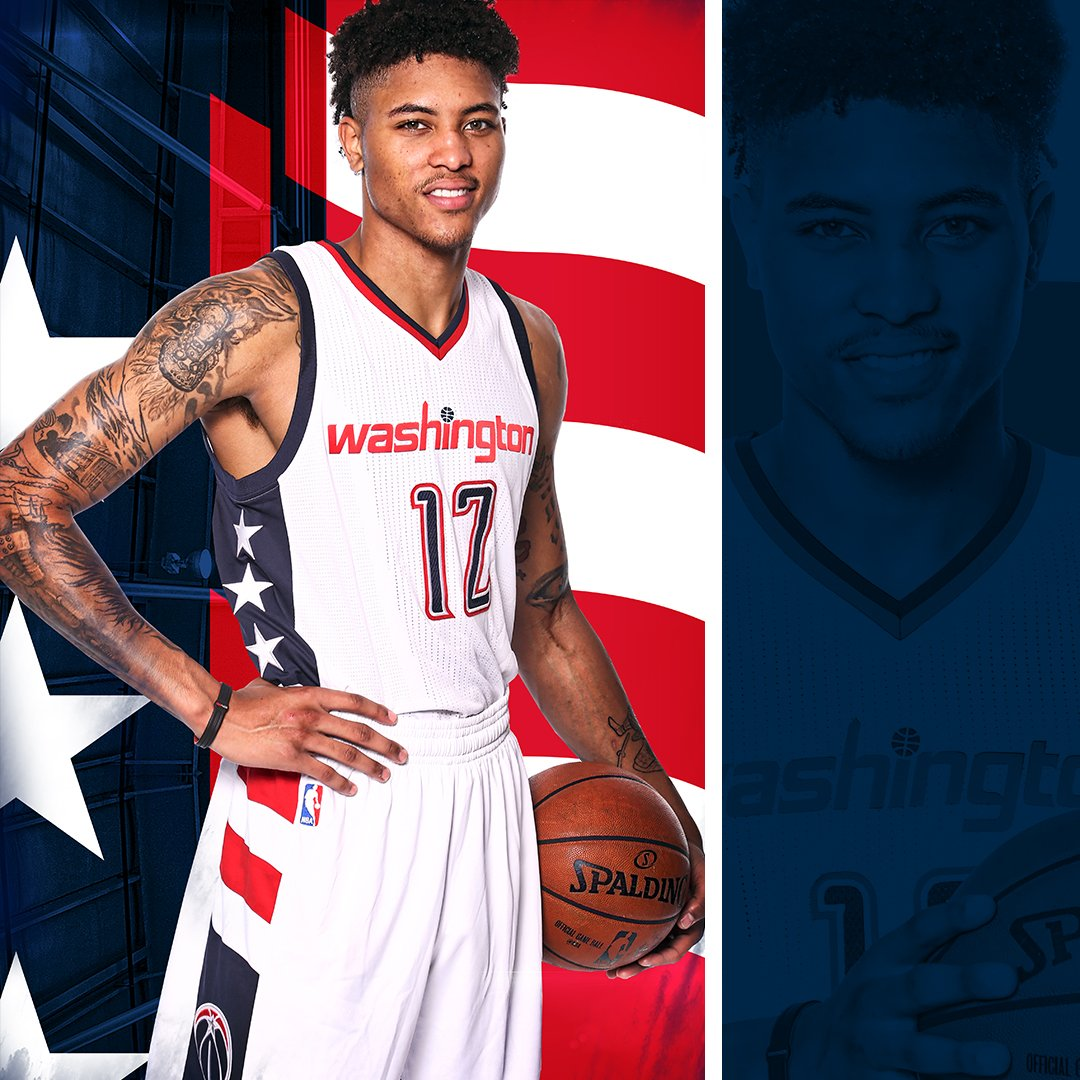 Denver Nuggets X Washington Wizards: Kelly Oubre Jr. Models The Washington Wizard's New Jersey